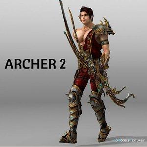 3D model archer