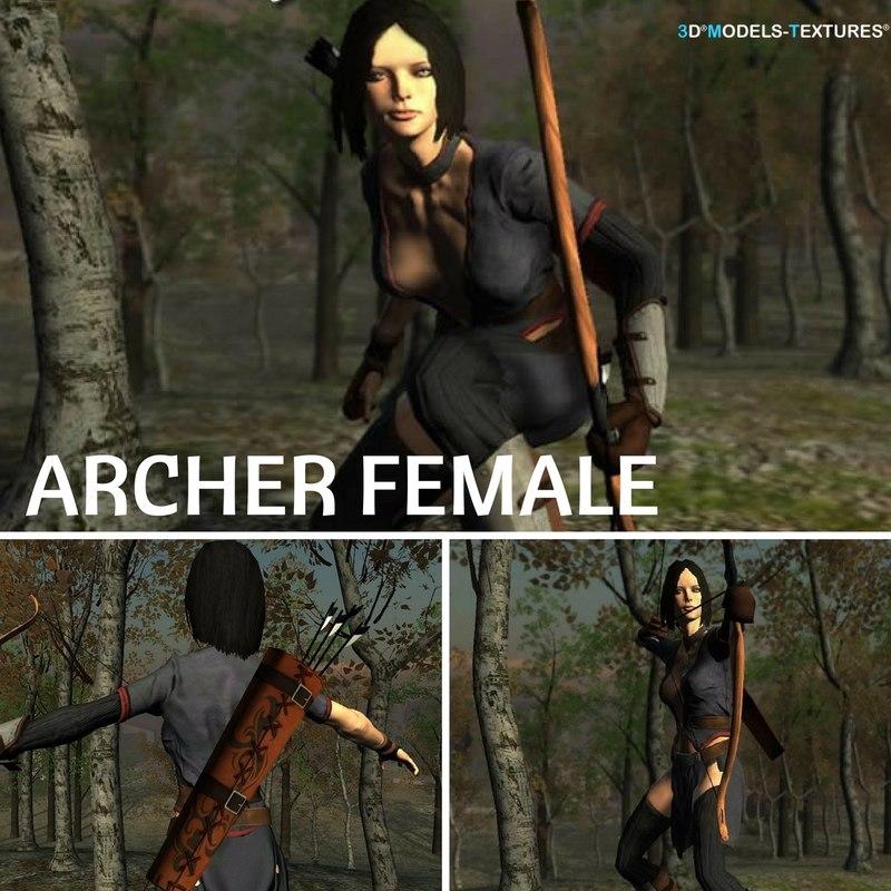 3D archer female