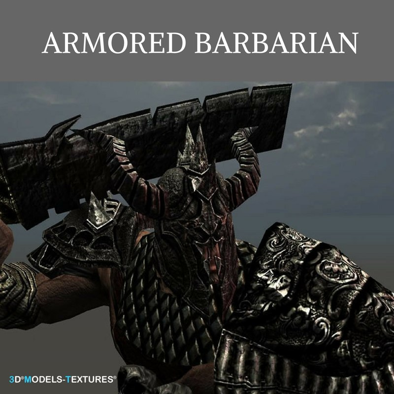 armored barbarian 3D model