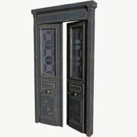 3D old double door
