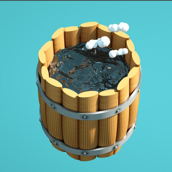 3D barrel dolphins