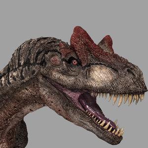 3D allosaurus