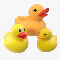 rubber ducks set 3D model