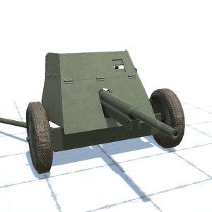 3D 45 mm gun 53-k model