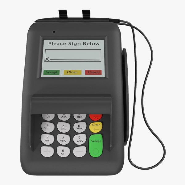 3D retail pos credit card