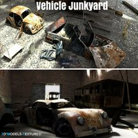 3D vehicle junkyard junk model