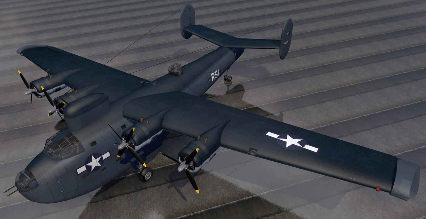 plane consolidated pb2y-3 coronado model