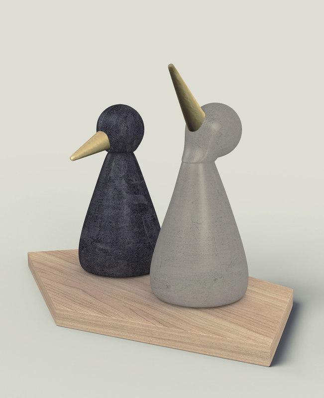 birds figurine - modern model