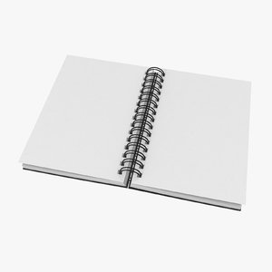3D model spiral sketchbook 03 02