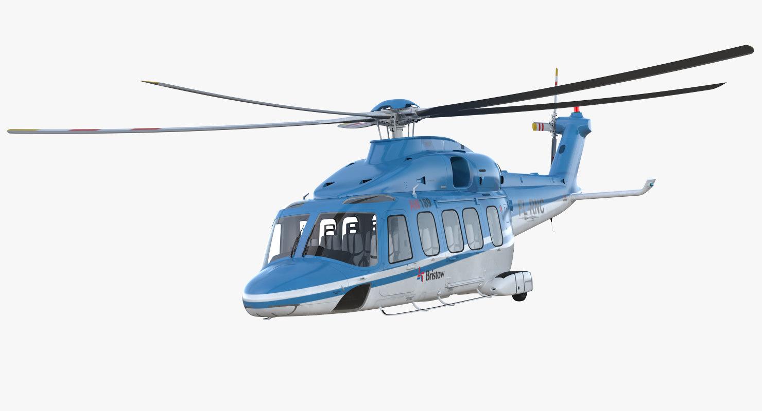 3D medium lift helicopter agustawestland model
