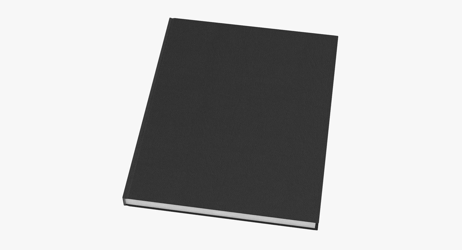 bound sketchbook large 01 3D