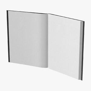 bound sketchbook large 02 3D model