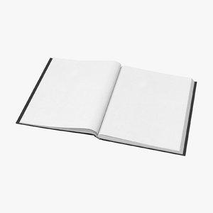 3D model bound sketchbook large 03