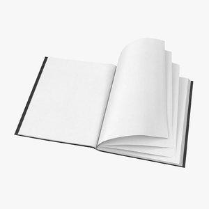 bound sketchbook large 04 3D model