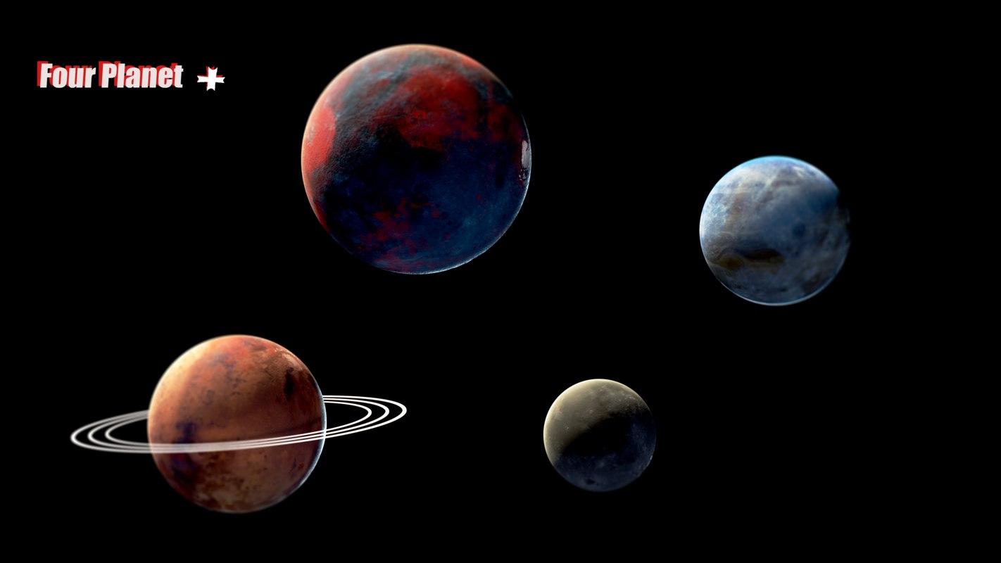 planet sci fi model