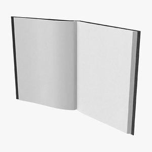 3D model bound sketchbook medium 02