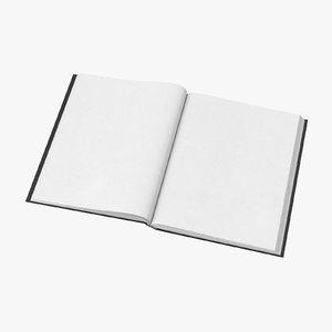 3D bound sketchbook medium 03 model