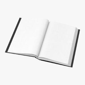 bound sketchbook small 03 3D model