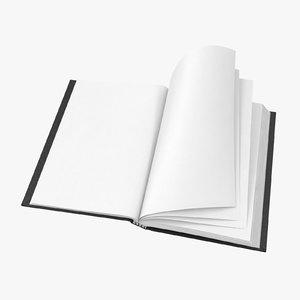 3D bound sketchbook small 04 model