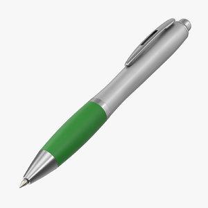 3D model promotional ink pen mockup