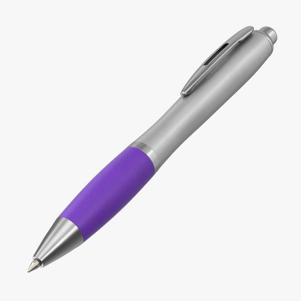 promotional ink pen mockup 3D model