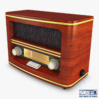 3D retro radio auna belle