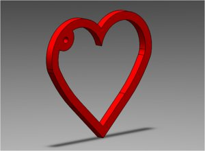 3D heart keychain gift