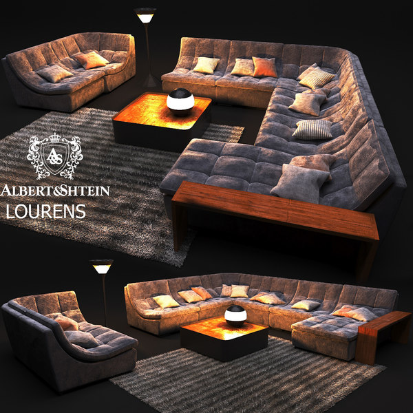 3D sofa professional architectural visualizations