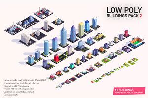buildings city pack 2 3D