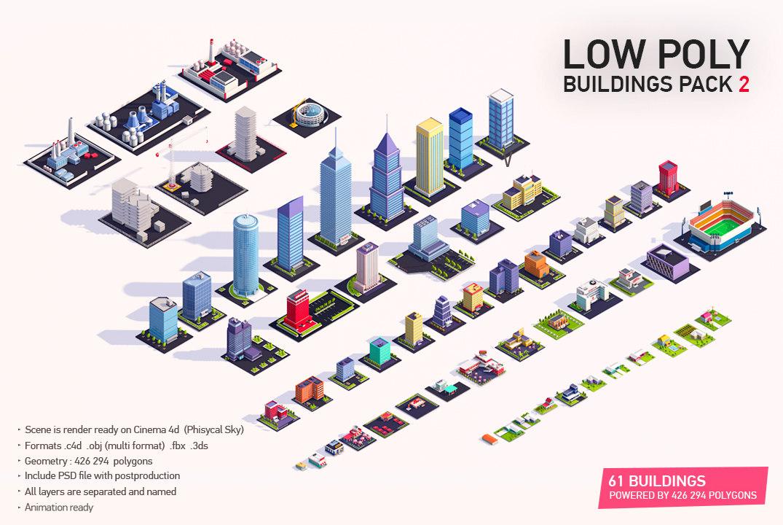 buildings city pack 2 3D