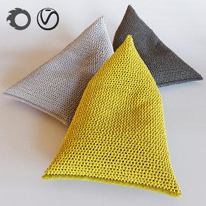 3D model nest knitted bean bag
