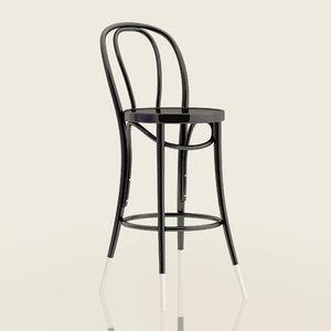 3D 18 bar stool thonet