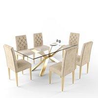 meridian furniture capri dining table 3D model