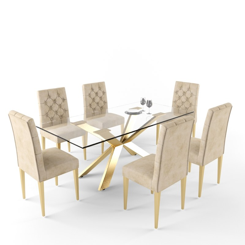 Meridian Furniture Capri Dining Table 3d Model Turbosquid 1209581