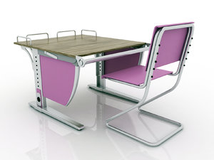 3D model libao desk chair