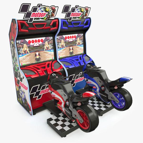 3D moto arcade machine