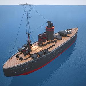 dark battle ship inspired 3D model