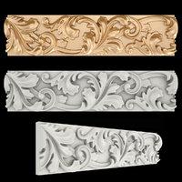 3D model frieze gold
