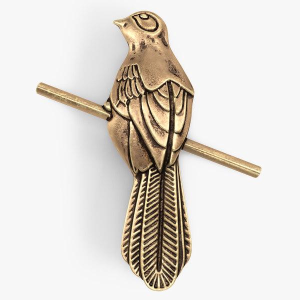 thrones mockingbird pin golden 3D model