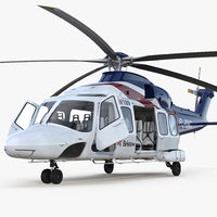Corporate Transport Helicopter Agusta Westland AW189 Rigged