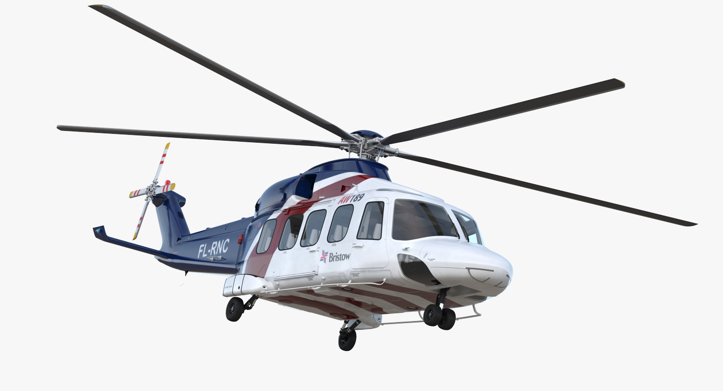corporate transport helicopter agusta westland 3D
