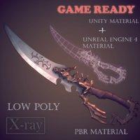 Fantasy dagger (low poly)