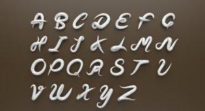 cream alphabet 3D