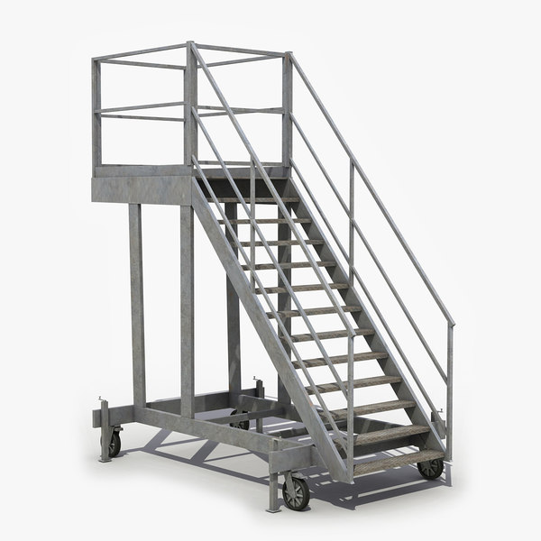 mobile stairs 3D model