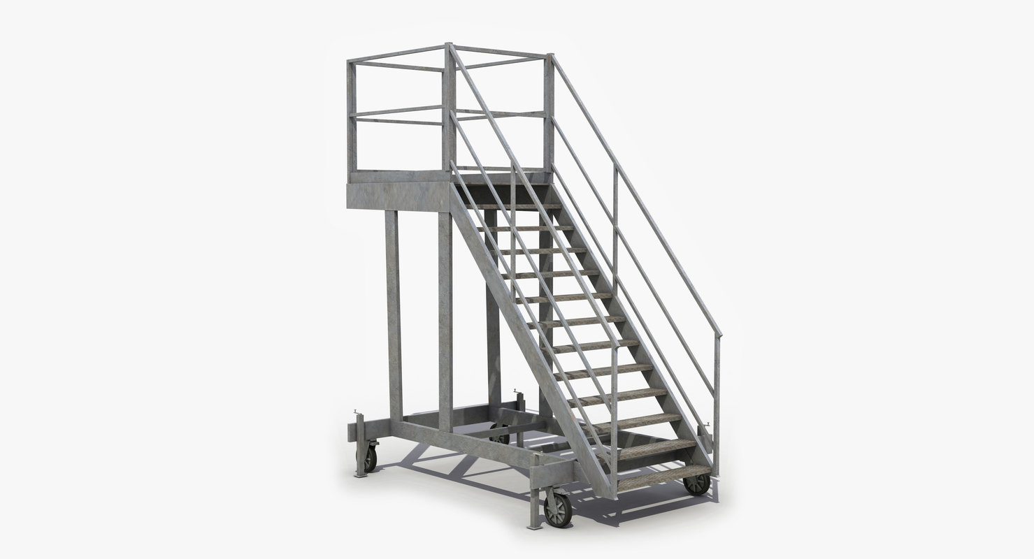 Mobile stairs 3d model turbosquid 1209684 for Manufactured stairs