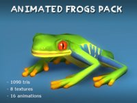 Animated Frogs Pack