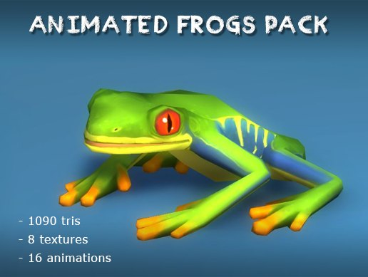 3D frogs pack animations