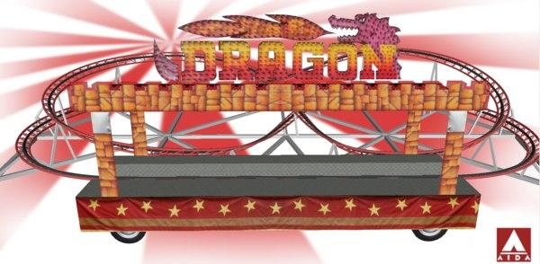 3D dragon coaster