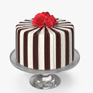 3D cake rosettes