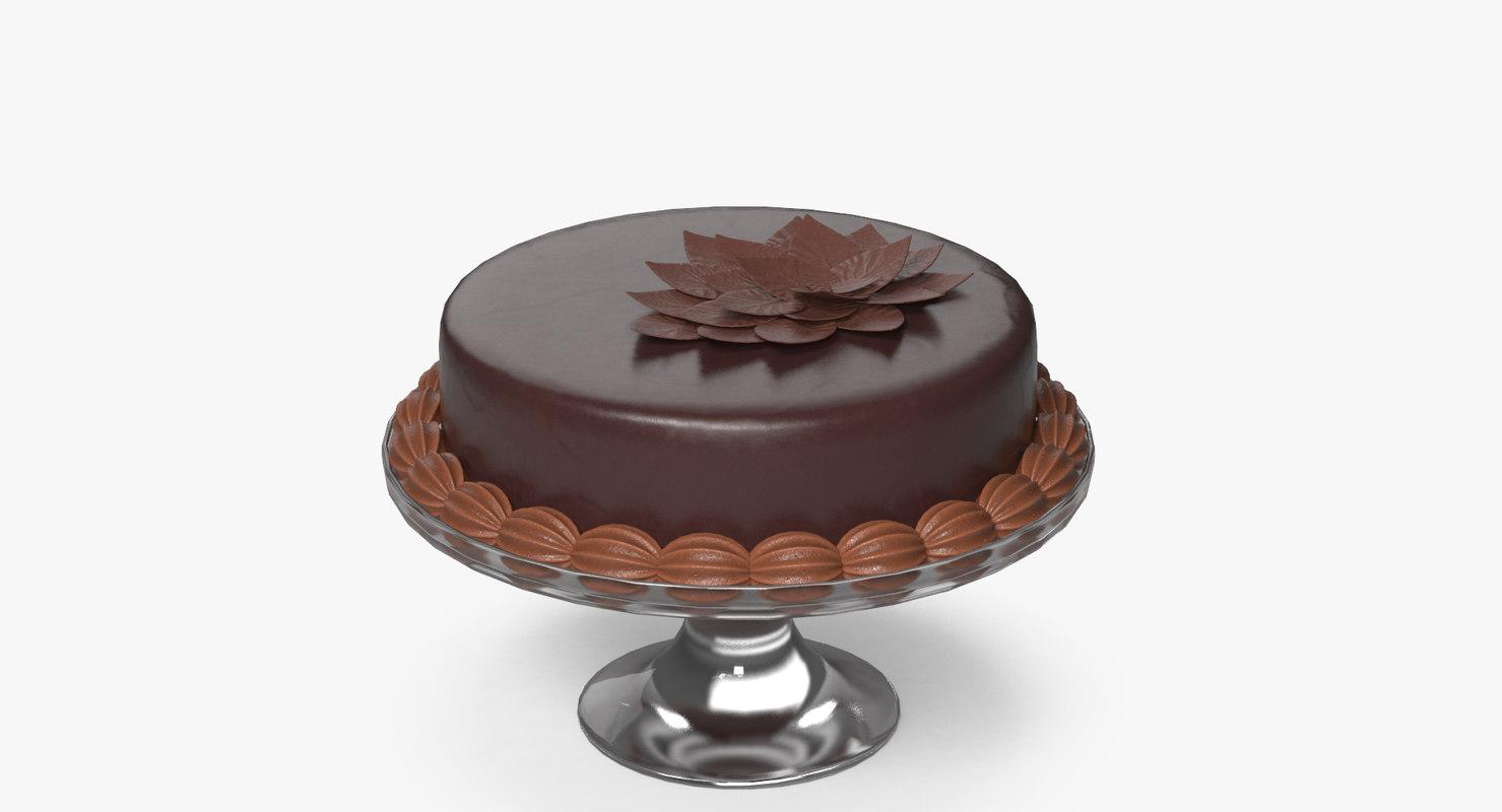 3D model chocolate cake